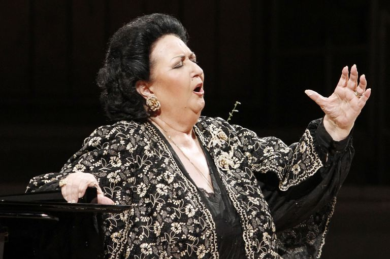 Spanish operatic soprano Montserrat Caballe performs live during a concert at the Philharmonie on January 31, 2011 in Berlin