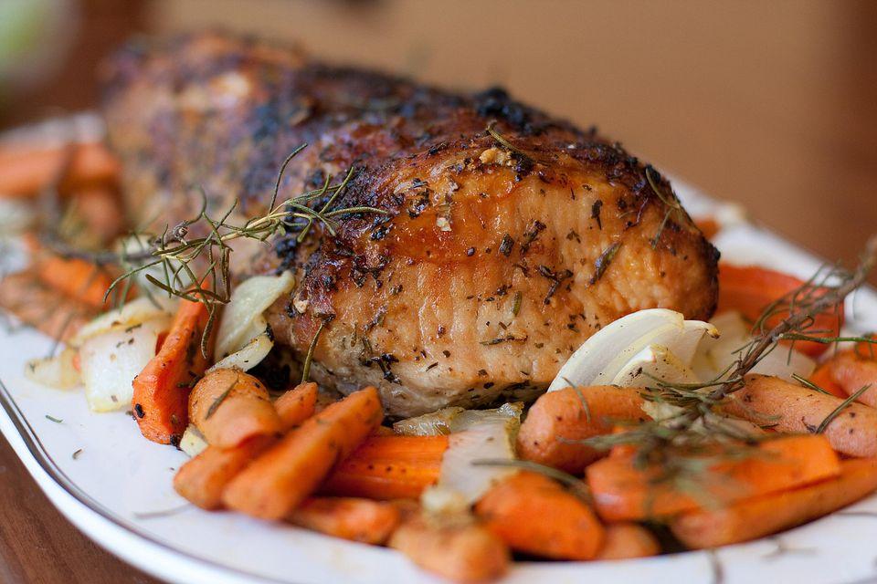 Roasted pork loin