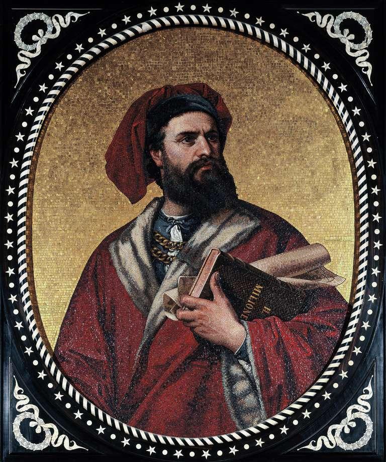 Marco Polo mosaic, Palazzo Tursi, Genoa, Italy