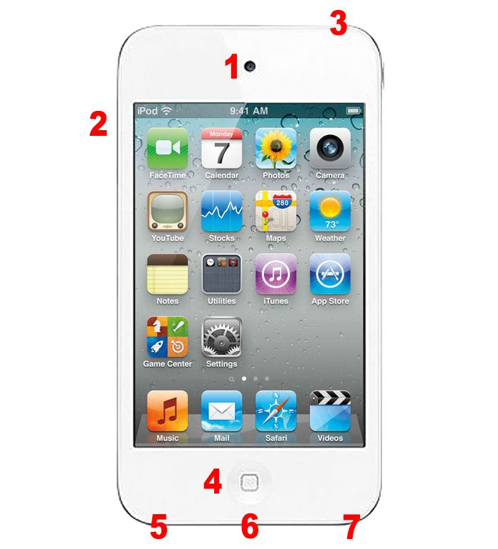 4th gen ipod touch hardware