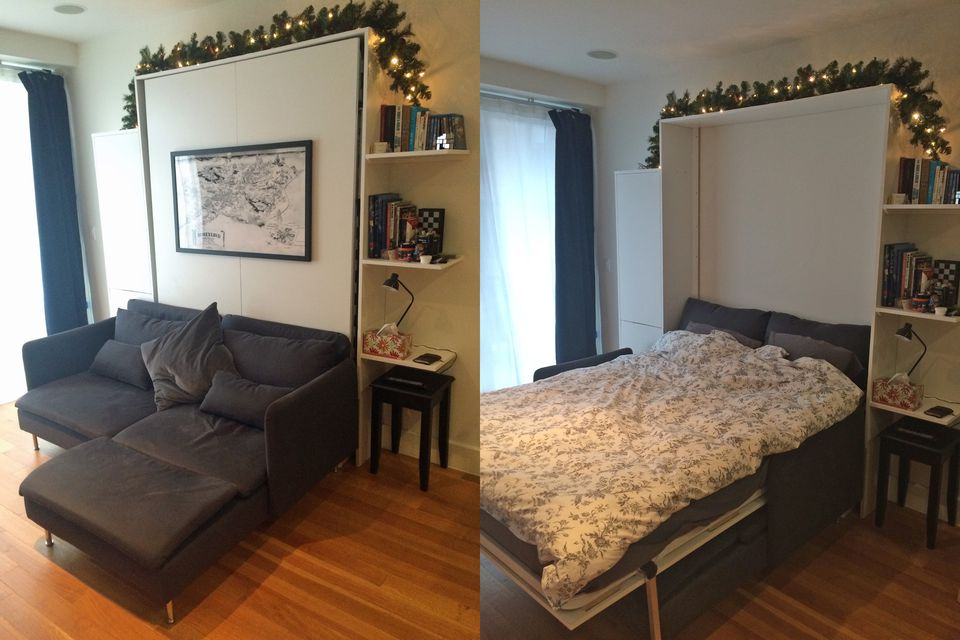 Build Murphy Bed With Couch: 12 DIY Murphy Bed Projects For Every Budget