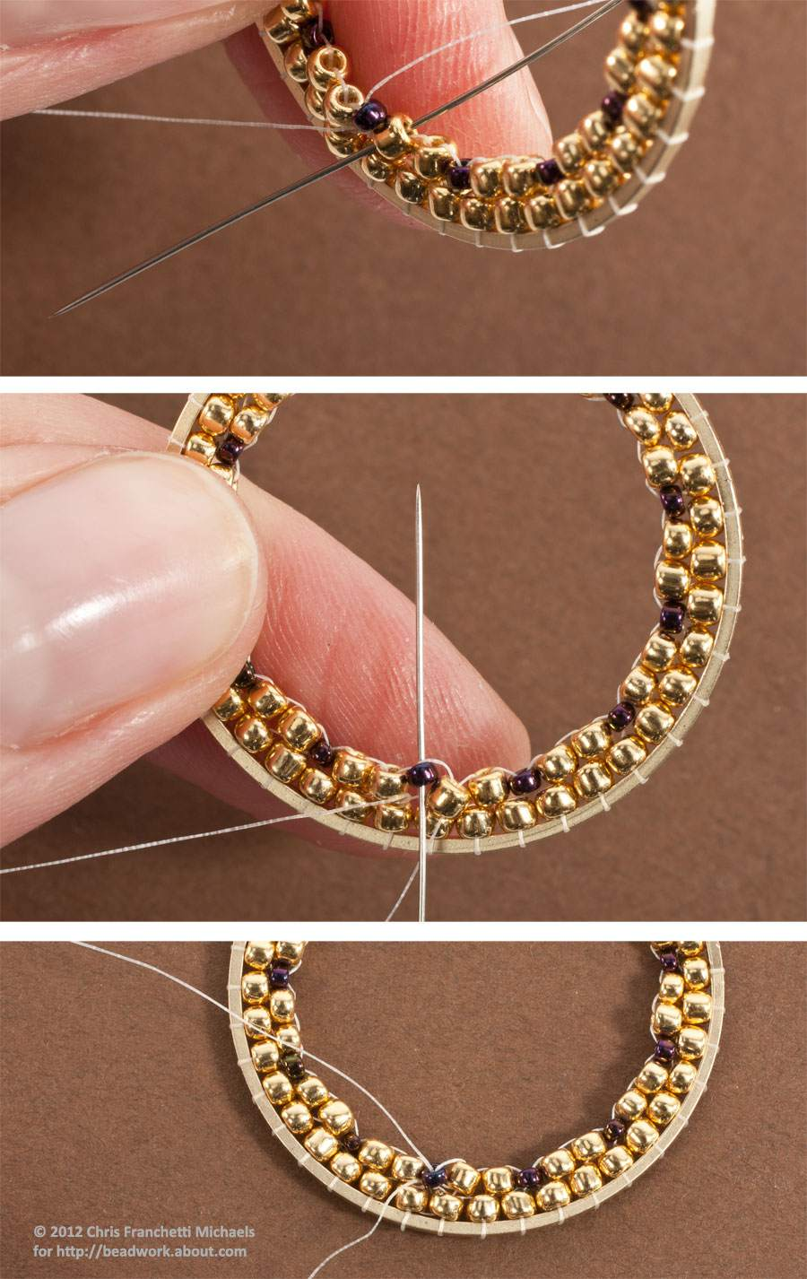 round an seed then circular the beads pick one ve we earrings in to onto sure second out how color used is golden of exiting up needle for thread age three stitch make blog accent brick your