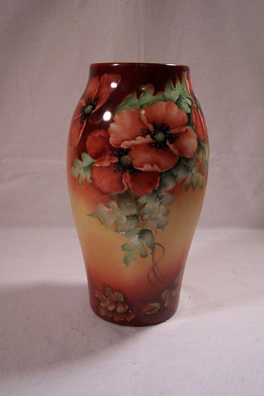 Tressemann & Vogt Limoges Poppies Vase