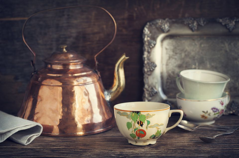 A beautiful antique teapot
