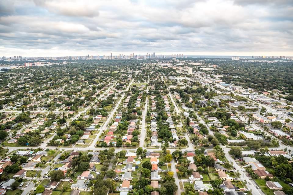 The suburbs of Miami Dade.