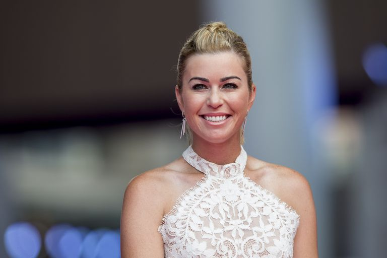 Paula Creamer on the red carpet at the World Celebrity Pro-Am 2016 Mission Hills China Golf Tournament in 2016.