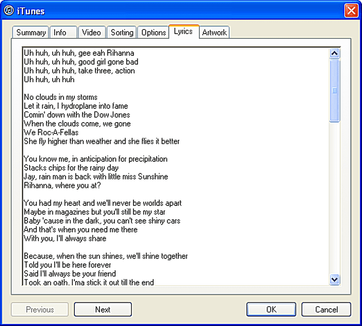 Lyric rain song lyrics : How to Manually Add Song Lyrics in iTunes