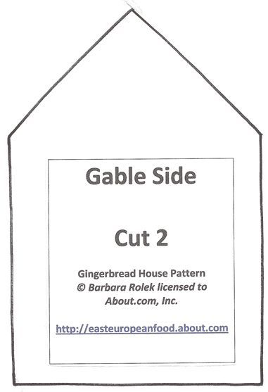 Tips for making a gingerbread house gingerbread house patterns a simple three piece pattern cut two gable sides two long sides and pronofoot35fo Choice Image