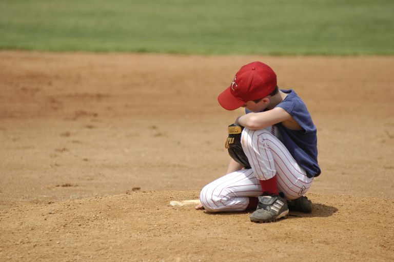 Disappointment in sports - baseball player