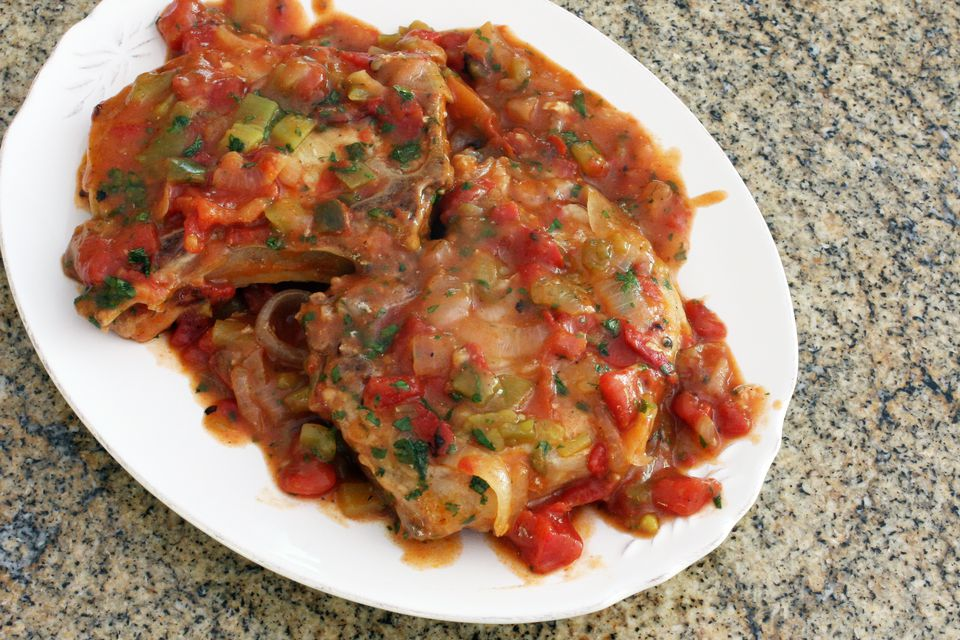 Spicy Shoulder Chops With Tomatoes
