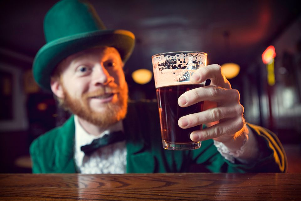 Leprechaun Toasting with Beer