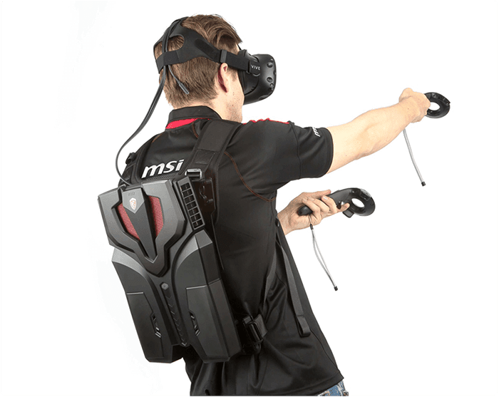 MSI VR One virtual reality backpack PC
