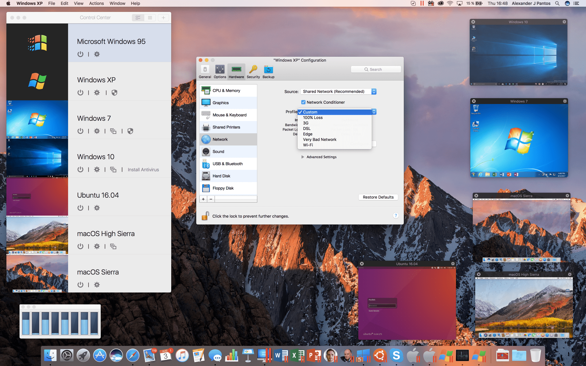 Parallels running on a Mac