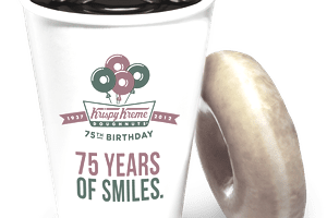 Krispy Kreme Coffee Bliss Celebrates the brands 75th anniversary.