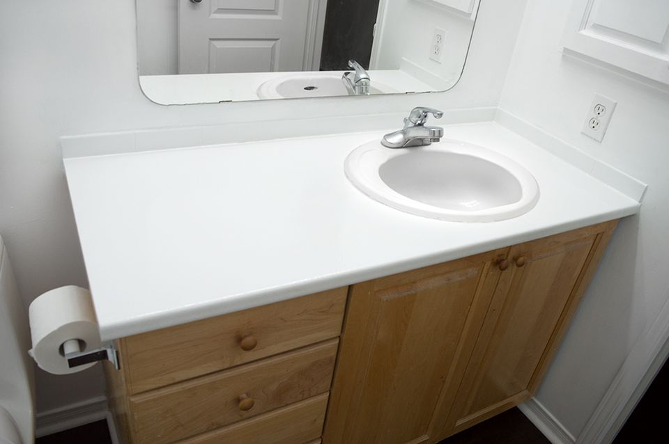 bathroom counters. DIY Painted Bathroom Counters 13 Easy Updates To Try
