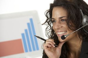 administrative assistant with headset