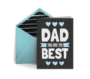 "A Father's Day card that says ""Dad You Are the Best"""