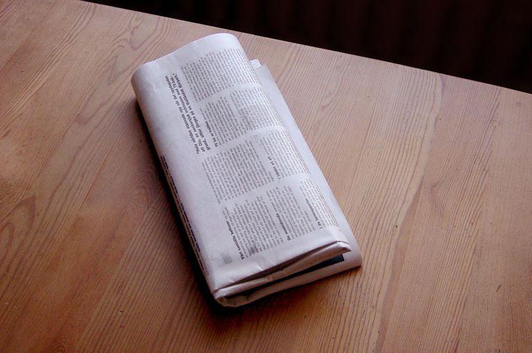 A folded newspaper