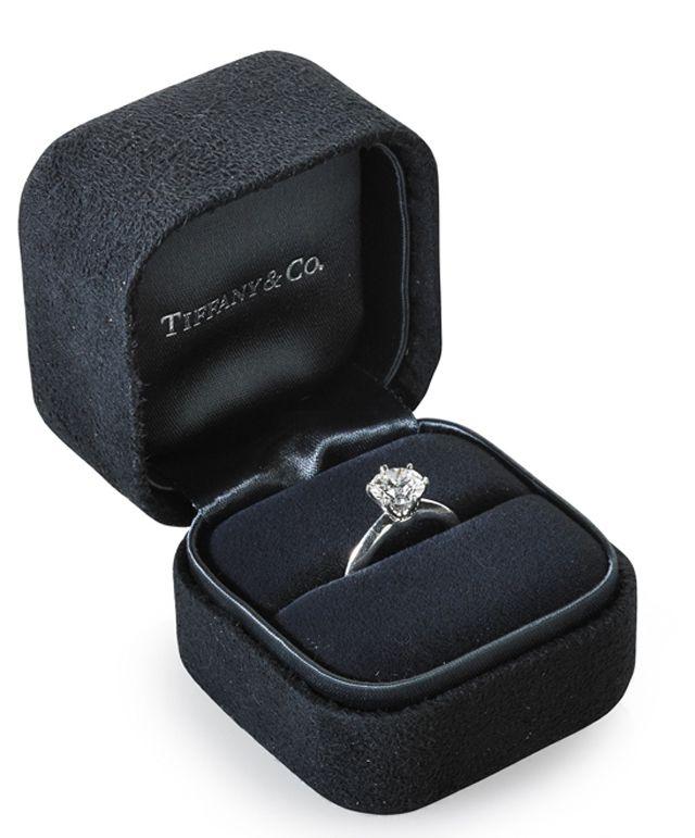 Tiffany & Co. Platinum Engagement Ring with Round Diamond