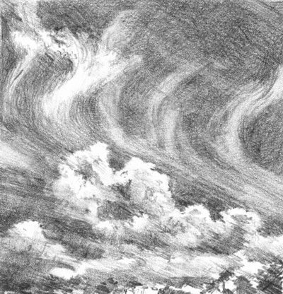 How To Draw Smoke Clouds In Pencil