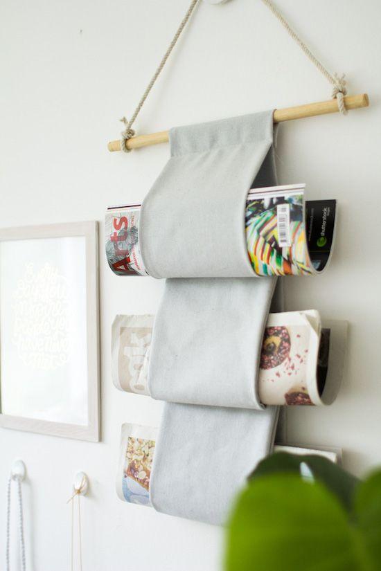 Magazine wall hanging