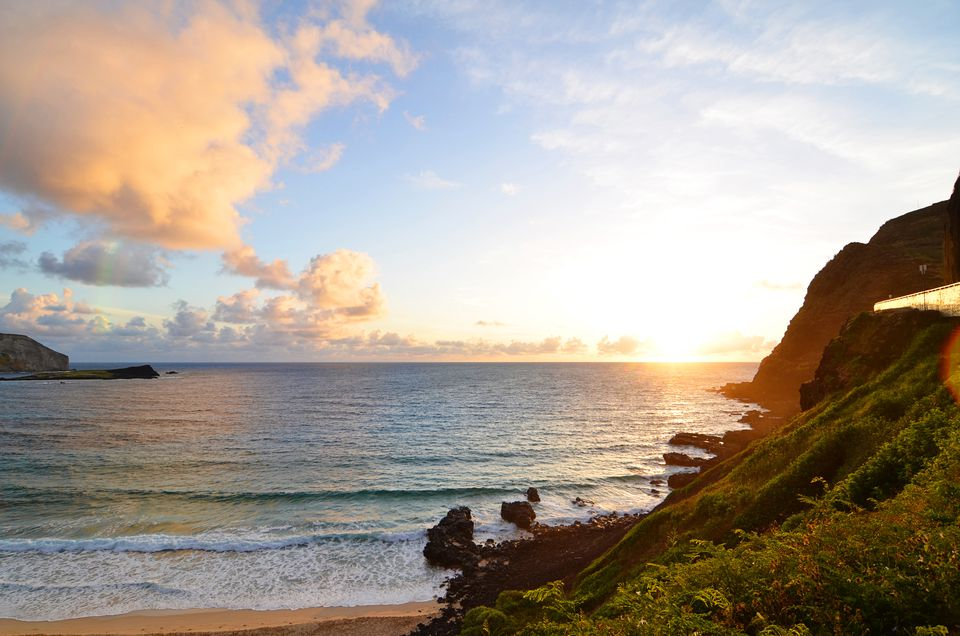 Scenic View Of Sea Against Sky During Sunset in Kailua