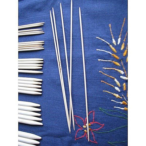 Agujas de dobles puntas de bambú
