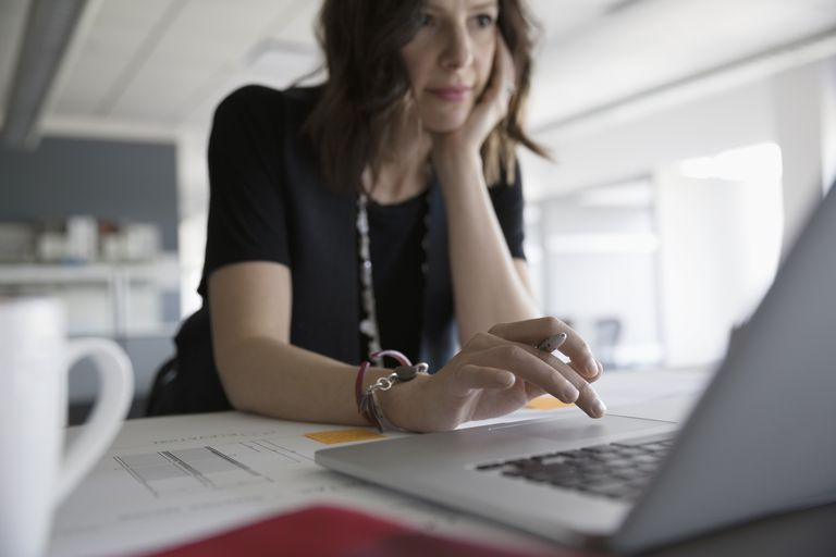 Female working at laptop
