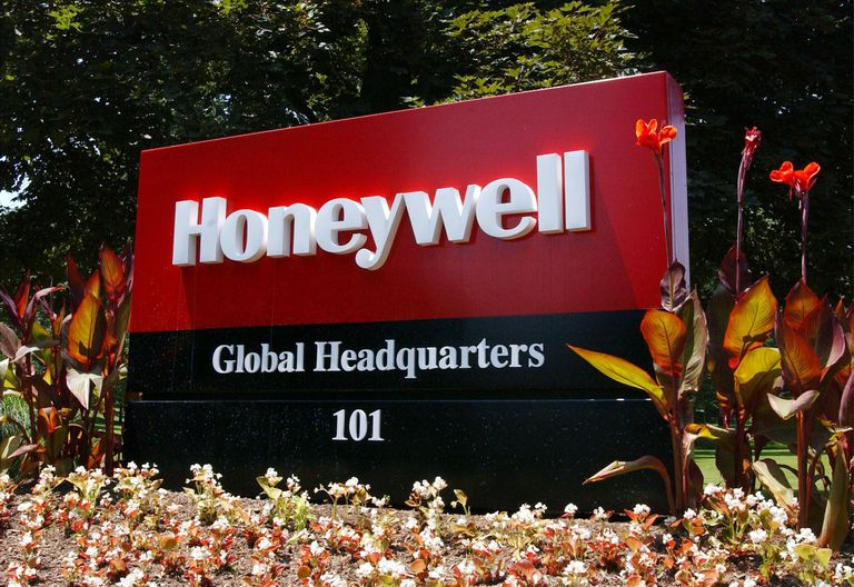 Honeywell global headquarters sign