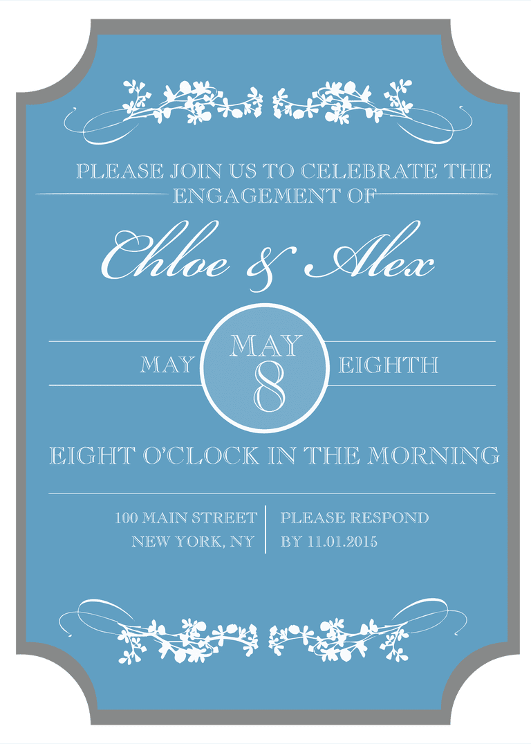 9 Free Printable Engagement Party Invitations – Sample Engagement Party Invitations
