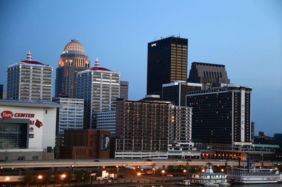 Skyline of Louisville, Kentucky, United States