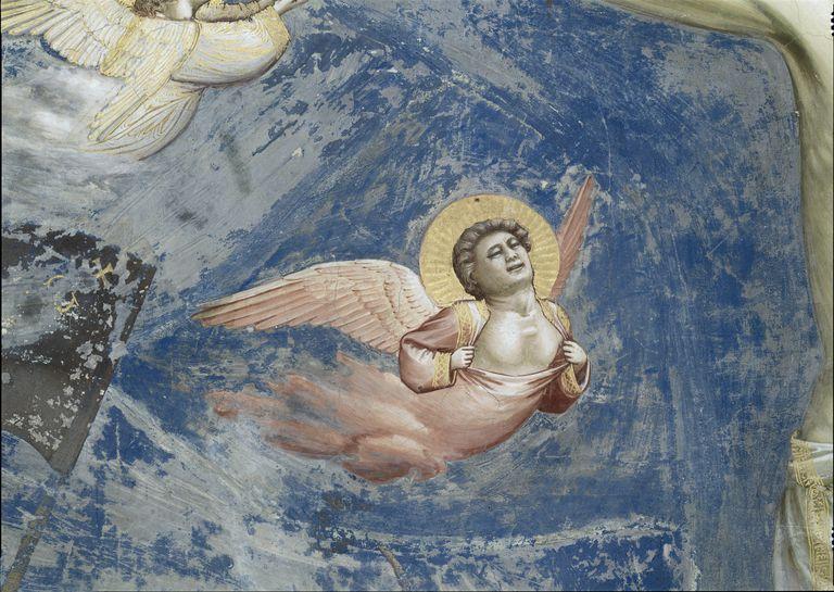 Crucifixion by Giotto di Bondone, fresco, close-up