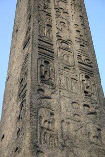 Photo of Hieroglyphs on Cleopatra's Needle