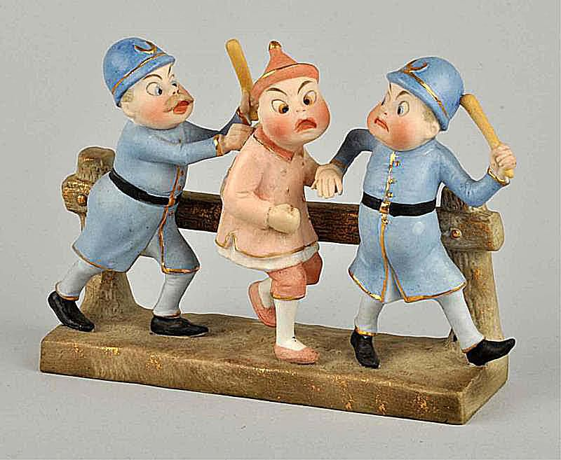 Bisque Brownies Figurine Made in Germany, c. 1900-1920