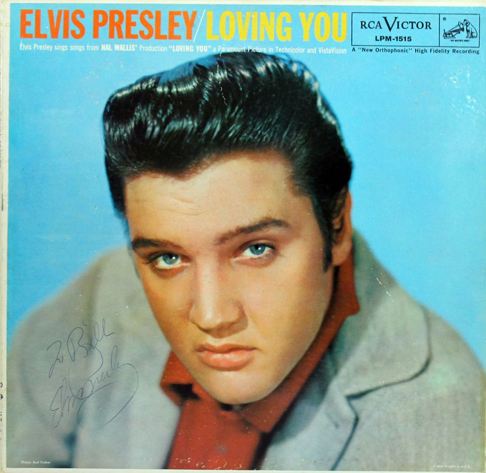 Elvis Presley Loving You Autographed Record Album