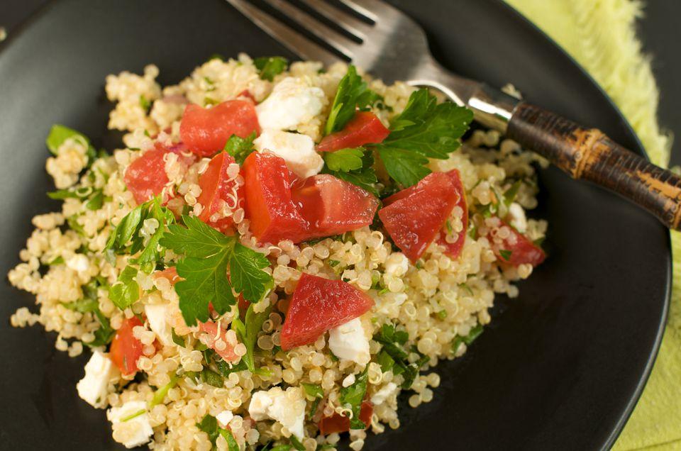 Plate of Quinoa Tabbouleh Salad