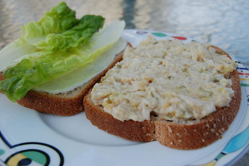 "Vegetarian ""tuna"" salad sandwich"