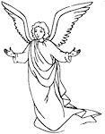 Angel Sunday School Coloring Page