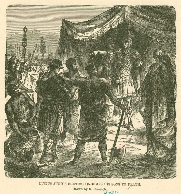 Lucius Junius Brutus Condemns His Sons to Death