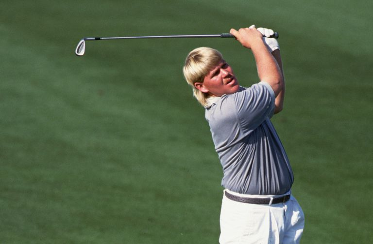John Daly early in his pro golf career, with a mullet.