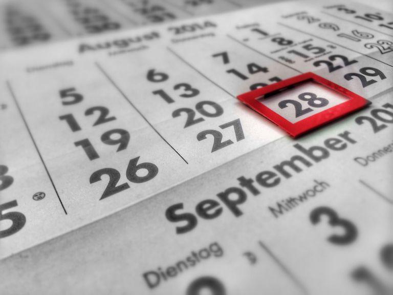 Close-Up Of Calendar Date