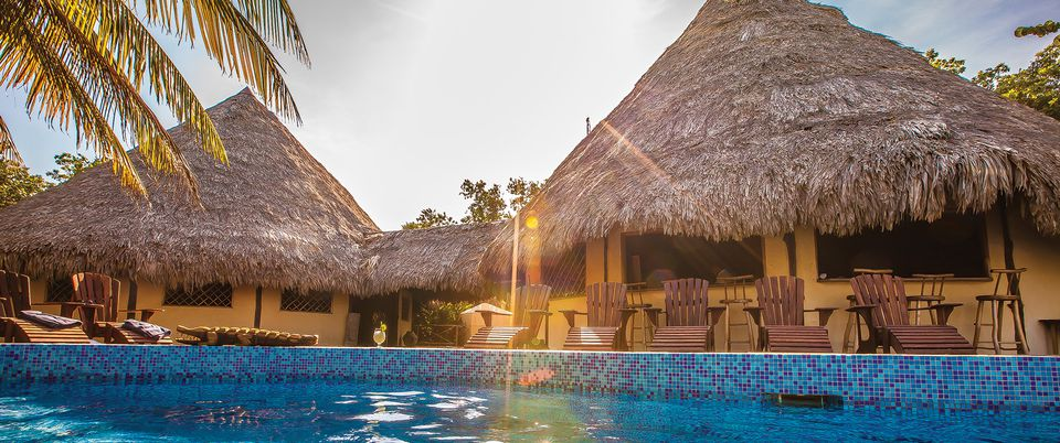 Tropical resort and pool