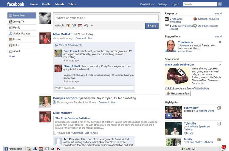 Organizing Facebook