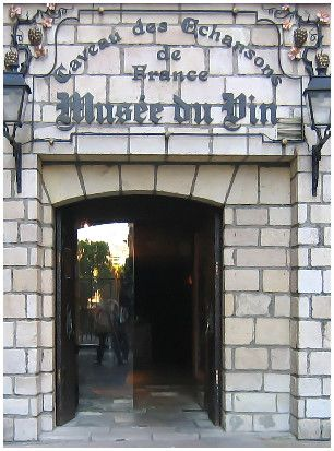 The entrance to the cellar at the Musee du Vin in Paris