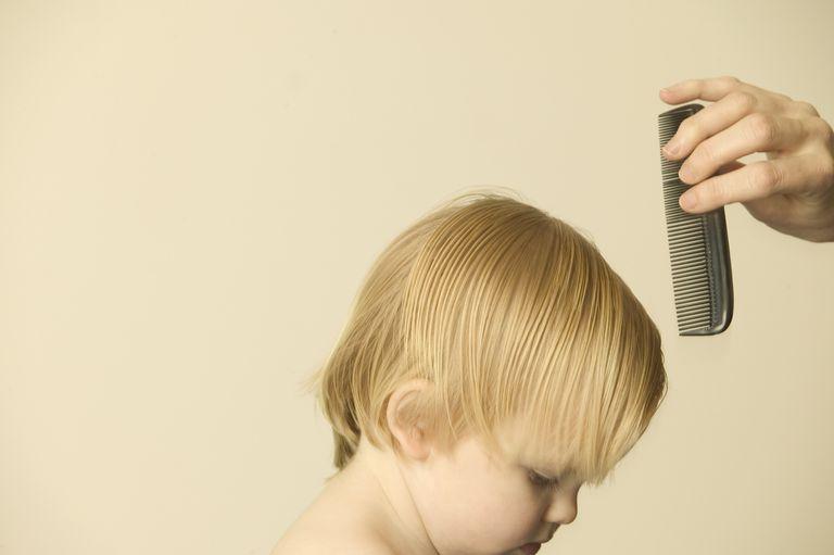 Combing Toddler's Hair