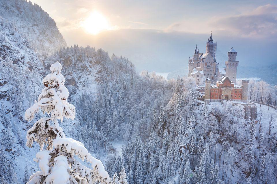 Castle Neuschwanstein, a destination on the romantic road.