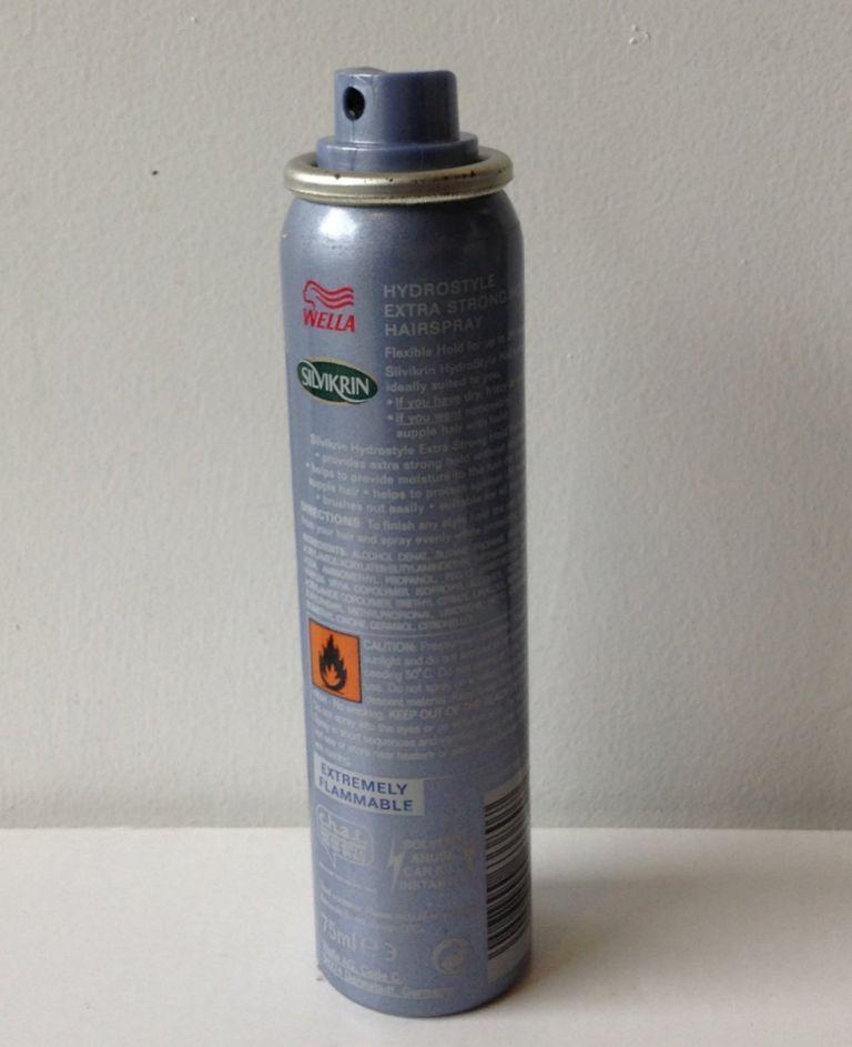 An aerosol hairspray can