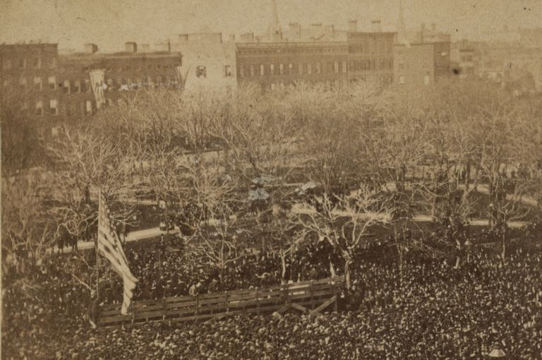 Union Square rally following Fort Sumter