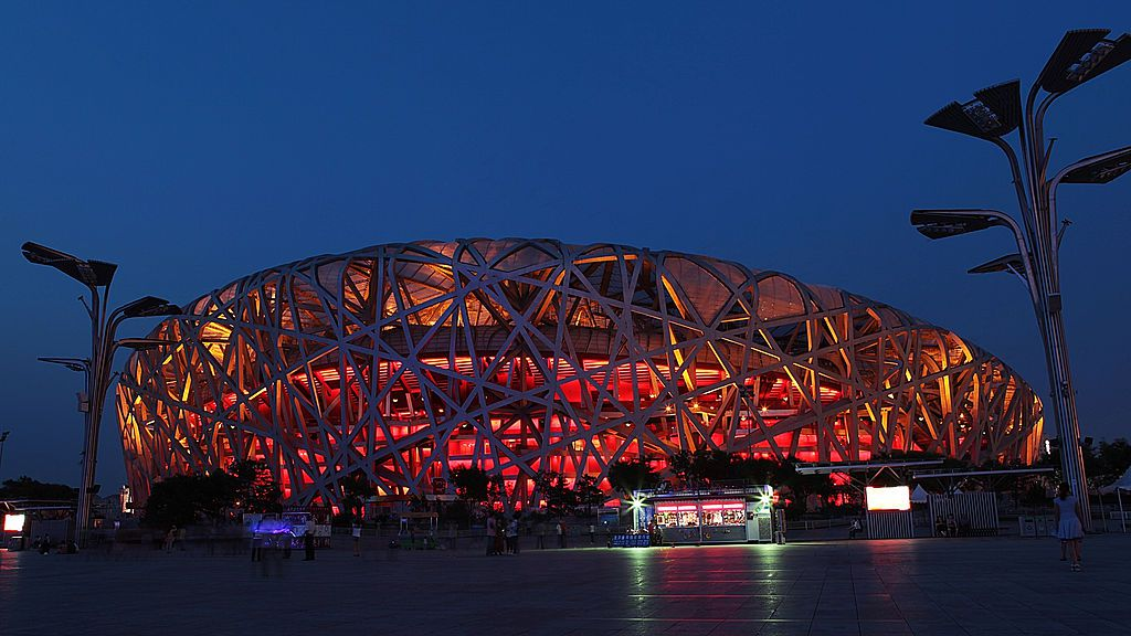 beijing national stadium construction The high cost for the construction of the plant has caused an unexpected block of the construction work in the second half of 2004 that lasted until the beginning of 2005 and the partial reduction of the initial project.