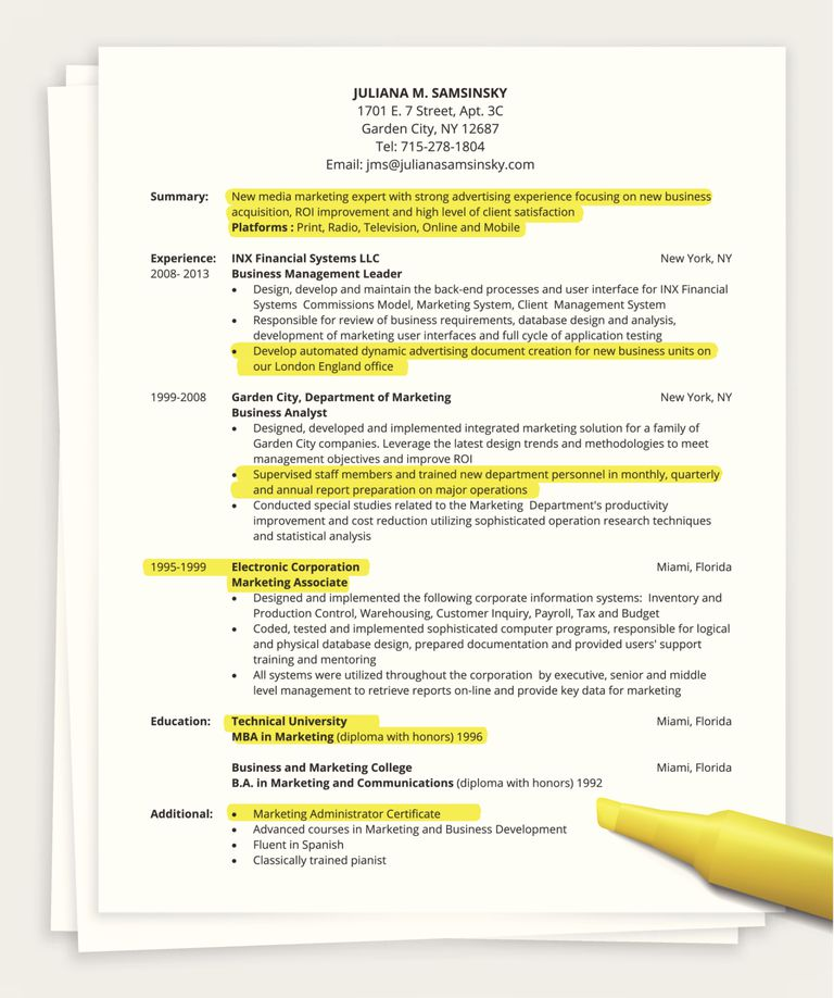 how to write a one page resume one page resume